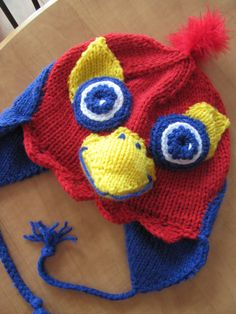 I wish this was made in my size! Jayhawk Earflap Hat on Etsy.