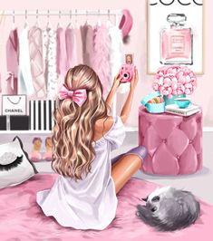 Pink Queen Wallpaper, Queens Wallpaper, Cute Girl Wallpaper, Teen Girl Crafts, Desi Wedding Decor, Glamour Decor, Beautiful Girl Drawing, Girly Drawings, Cartoon Wallpaper Iphone