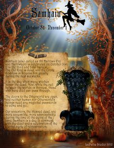 ✨Free Book of Shadows Pages from www.lapuliabookofshadows.com. Samhain-2012-1.jpg 1,700×2,200 pixels
