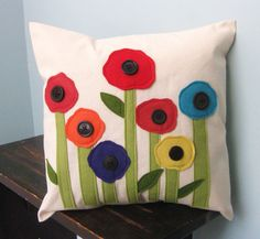 Spring Poppies Pillow Cover by DesignsByNancyT on Etsy