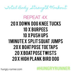 hungryrunner: Today's workout: at-home, equipment-free, total body strength training circuit! AKA it was too snowy and just a bit too cold to run outside in the dark this morning. Split Squat Jumps, Whole Body Workouts, Boat Pose, Strength Workout, Strength Training, Circuit Training, Total Body, Full Body