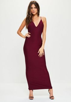 Burgundy is still strong in the spotlight RN! Reel in those slaying vibes with its maxi length, sexy cowl back, burgundy hue and strappy style.
