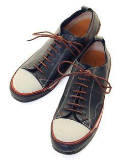alfredoBANNISTER Leather Low Cut Sneaker (Navy) アルフレッド・バニスター「レザーローカットスニーカー」ネイビー