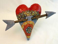 """Arrow Medallion"" Ceramic Wall Art Created by Laurie Pollpeter Eskenazi"