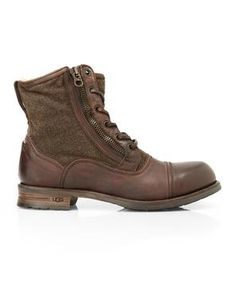 UGG COLLECTION Brown Tonio Cap Toe Boots