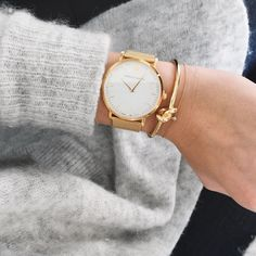 bracelet Lovelaurenalexa + montre dorée larsson&jenning
