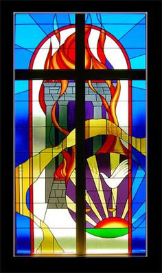 "Stained Glass Window #3 ""Sacrifice"" — Click for larger view"