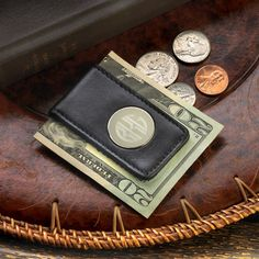 fbebf28b99c1a Personalized Leather Magnetic Money Clip - Famous Favors. Engraved  Groomsmen Gift. Buy now at