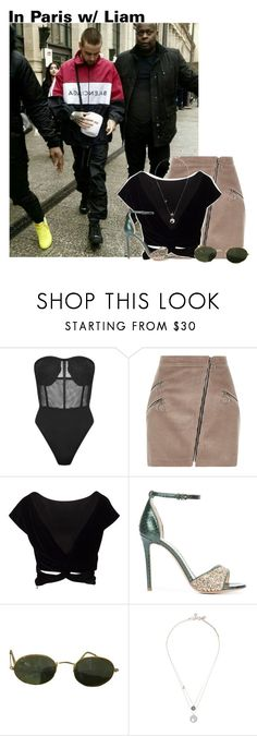 """""""~you're on your own~"""" by boobear1707 ❤ liked on Polyvore featuring River Island, Monique Lhuillier, Ray-Ban and Swarovski"""