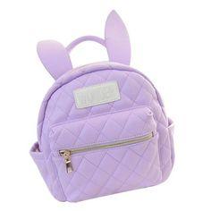 "pale-grunge-dark: "" Bunny Ears Backpack (please do not remove link. Rucksack Bag, Backpack Bags, Pastel Backpack, Little Backpacks, Bunny Bags, Fur Bag, Purple Bags, Luxury Shop, Cool"
