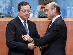Goldman Sachs vaticina que España pedirá formalmente el rescate la semana que viene (Mario Draghi y Luis de Guindos)