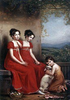 The Athenaeum - Portrait of the Elisabeth, Amalie and Maximiliane of Bavaria (Joseph Karl Stieler - )