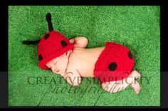 ladybug #baby #photography #ladybug  This outfit is available on Etsy-  just click on the picture.