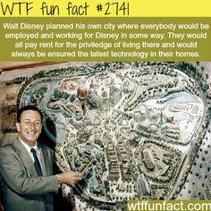 Walt Disney Ideas for Disney Land City - WTF fun facts