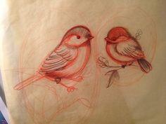mom and baby bird tattoo - Google Search