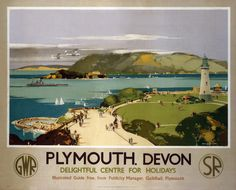 ENGLAND - DEVON - Plymouth, Vintage UK Railway Poster