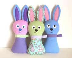 Easter Bunny Pattern comes with Lop Eared version too. Make a bunch, quick and easy. by MyFunnyBuddy