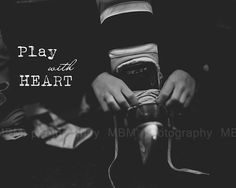 Play with Heart Hockey Print 8x10 by SportyPrintsbyMBM on Etsy