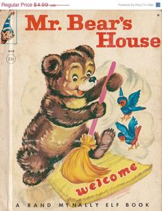 Mr. Bear's House (1962) by Fenella Rothe -  Rand McNally Elf Book