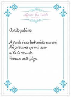 Arte do convite + manual dos padrinhos!! 6