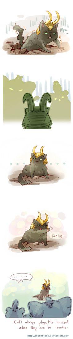 ...Loki Cat (Animal Avengers 4 by Mushstone.deviantart.com)