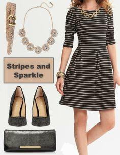 Mixing stripes & sparkle