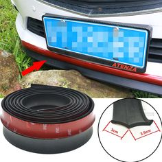 2.5M/ Roll 6.5cm Width Car styling TPVC Lip Skirt Protector Car Scratch Resistant Rubber Bumpers  Decorate High qaulity *** This is an AliExpress Affiliate Pin. Haga clic en la VISITA botón para averiguar más