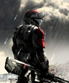This is my legit armor setup in Reach. Armor Concept, Concept Art, Fantasy Character Design, Character Art, Master Chief And Cortana, Halo Drawings, Halo 3 Odst, John 117, Halo Spartan