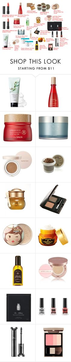 """""""COSMETICS"""" by altheaklarize ❤ liked on Polyvore featuring beauty and Skinfood"""