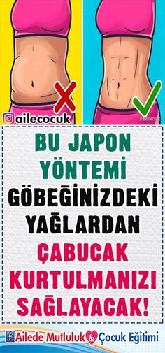 This Japanese method will help you get rid of the fat in your belly quickly . - Derya - - This Japanese method will help you get rid of the fat in your belly quickly . Health And Beauty, Health And Wellness, Health Tips, Health Fitness, Cardio Training, Flat Belly Workout, Fitness Photography, Health Quotes, Health Motivation