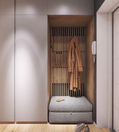 Moderrn apartment in Comfort Town on Behance modern hallway Interior Design Bedroom, Interior Design, House Interior, Hallway Wall Decor, Bedroom Interior, Home, Interior, Hallway Furniture, Home Decor