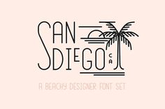 San Diego   Beach Designer Font Set (affiliate)