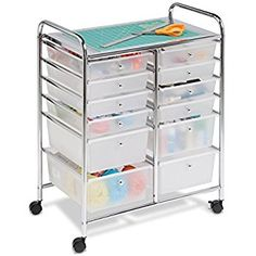 Amazon.com: Honey-Can-Do CRT-01683 12 Drawer Chrome Studio Organizer Cart: Home & Kitchen