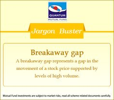 Demystifying the term #BreakawayGap in the financial context. #JargonBuster