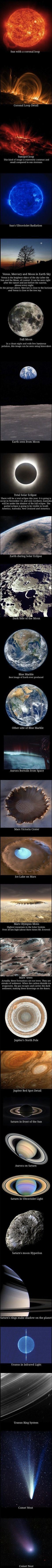 Series of great images from our solar system.
