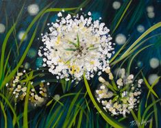 White Wildgrass Flowers - Fairport Painting Class - Painting with a Twist - Painting with a Twist Night Painting, Flower Painting, Art Kits, Painting Class, Painting, Art, Wine And Canvas, Canvas Art, Wine Painting