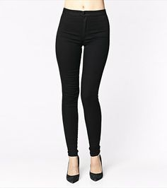 #DYNHOLIDAY A must-have in every wardrobe! This black high waist denim is perfect for going from desk to drinks! Pair it with a blazer for work and a sexy tank for night.