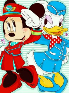 minnie mouse and daisy duck airlines ;