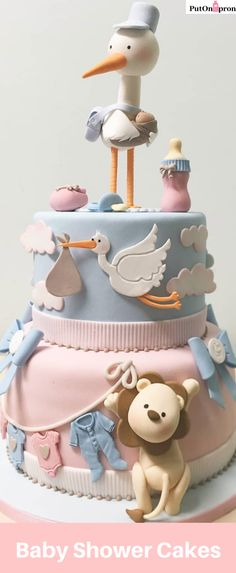 Baby Shower Cake Mould Getting ready for your Baby Shower? Make the best cake decor for your cake! Torta Baby Shower, Tortas Baby Shower Niña, Baby Shower Cakes Neutral, Baby Shower Cakes For Boys, Shower Baby, Baby Cakes, Baby Reveal Cakes, Baby Birthday Cakes, Cupcake Cakes