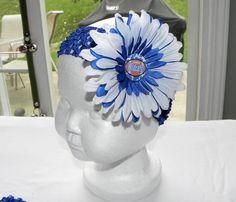 UK Wildcats Inspired Flower Clip Headband by AddisonAveBoutique, $6.50