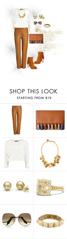 """marrom"" by daianetavares310 ❤ liked on Polyvore featuring Joseph, Rebecca Minkoff, Kenneth Jay Lane, David Yurman, Victoria Beckham, Noir Jewelry and Ivanka Trump"