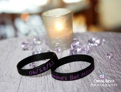 Bat Mitzvah custom bracelet party favors.