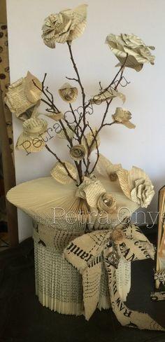 Buch zu einer Vase falten und scheiden