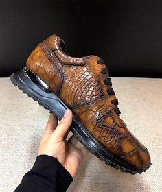 Comfortable Lightweight Casual Alligator Leather Lace Up Sneakers Comfortable Sneakers, Casual Sneakers, Leather And Lace, Leather Shoes, Alligator Boots, Sneakers For Sale, Sneaker Boots, Men S Shoes, Shoe Boots