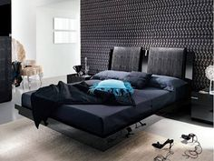 black and modern bedroom... :)
