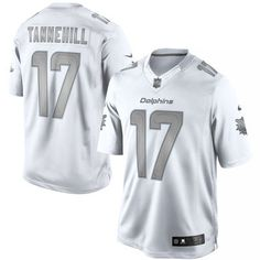 7b5d76b2a Men s Miami Dolphins Ryan Tannehill Nike White Platinum Limited Jersey  Weiße Nikes