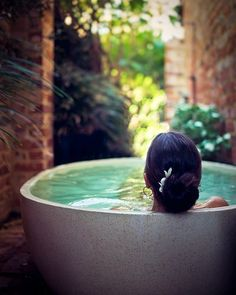 bathtub..this would be wonderful on a private patio <3