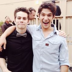 Dylan O'Brien and Tyler Posey teen wolf hotties