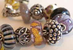 Fennel & Lavender Trollbeads Spanish Lavender, Troll Beads, Pandora Beads, Baubles And Beads, Tiny Treasures, Jewelry Companies, Fennel, Silver Beads, Charm Jewelry