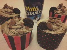 Oreo Cupcakes  Fondant Cookies, Oreo Cupcakes, Mini Oreo, Sweet Tooth, Ice Cream, Desserts, Food, Sherbet Ice Cream, Meal